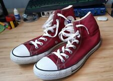Botas Converse All Star Rojo-Tamaño 9.5 UK-Excelente Estado