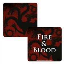 Juego De Tronos Targaryen Fire & Bebidas Posavasos Estera de Tabla de sangre Lenticular