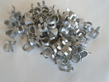 SQUEEZE CLAMP FUEL LINE TUBING .294 ( 3/16 1/4 ) GALVANIZED LOT OF 100 SEE PICS