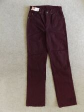 Lee Jeans 201 Borgoña Rojo Granate Talla 27 Cooper Superslim Para Mujeres Niñas Damas