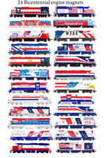 Bicentennial Locomotives Set of 24 Train magnets by Andy Fletcher