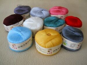 10 Vintage Chinese High Grade SILK Sewing Embroidery Thread / Gaojitiancansixian