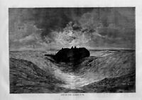 NAUTICAL AFTER THE STORM BOAT SHIP ABANDONED AT SEA WAVES HARPER'S WEEKLY