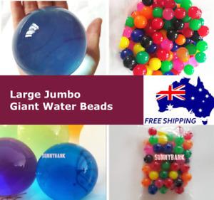 Large Jumbo Giant Water Seeds Balls Crystal Soil Jelly Gel Beads Home Wedding