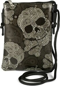 Ladies Mini Bag Shoulder Bag Skull Optics, Shoulder Bag, Handbag, Bag
