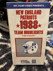 Vintage NFL Films New England Patriots 1988 Team Highlights VHS SEALED FLUTIE