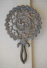 Vintage Cast Iron Trivet Ship / Boat Propeller / Fan Design Wall Kitchen Tool