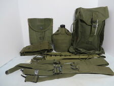US Army WW2 Field Gear Lot 1944 Dated Belt, Straps, E-tool Cover, Canteen More