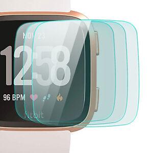 3x Display Schutz Glas für Fitbit Versa - Schutz Schutz Folie Glasfolie 9H