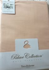 YVES DELORME ROMA BLUSH 500TC FITTED SHEET SUPERKING PALACE COLLECTION LUXURY