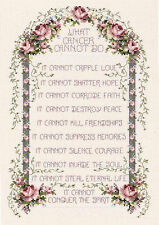 Cross Stitch Kit ~ Janlynn Inspirational What Cancer Cannot Do #080-0479