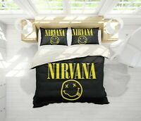 3D Yellow Classical Band Nirvana Quilt Cover Duvet Cover Comforter Cover 99