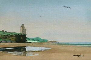 FRANK COLCLOUGH 'Greenan Castle', Ayr Scotland Scottish Watercolour