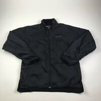 Marmot Mens Windbreaker Jacket Black Lined Mock Neck Full Zip Nylon M