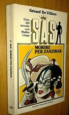 GéRARD DE VILLIERS #  3 - SAS:MORIRE PER ZANZIBAR - COVER GUIDO CREPAX -1984
