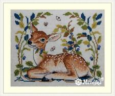 Merejka Counted Cross Stitch Kit on 32 ct evenweave  - The Fawn