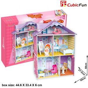 Girls Little Artist Dollhouse 3D Model DIY Puzzle Hobby Building Kit Play Set