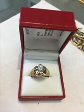 14 Kt Gents Yellow Gold Diamond Ring