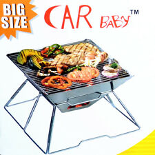 New Portable & Folding Stainless Steel Camping Firepit BBQ Stove -B5