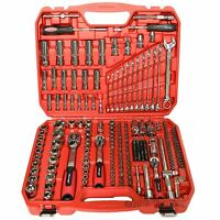 "219 PC Socket Set Ratchet Handle Wrench Tool Spanners 1/4"" 3/8"" 1/2""Drive CT3748"