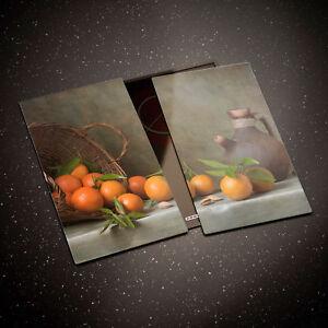 Tempered Glass Chopping Board Cooker Hob Cover Still Life Orange Fruit 0322