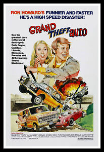 Grand Theft Auto Movie Poster Print & Unframed Canvas Prints