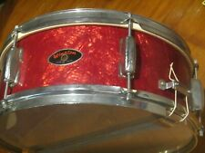 Japan Winston 14.5 Inch Snare Drum Vintage Percussion Red
