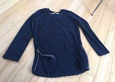 Designer Alternative Apparel Women's Navy Blue Sweatshirt Tunic Everyday Size XS