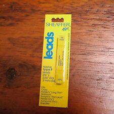 "12 Vintage NEW Deadstock SHEAFFER Type F Pencil Leads HB Medium  2.34"" x .036"""