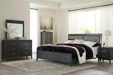 Ashley Furniture Delmar Queen Upholstered Panel 6 Piece Bedroom Set