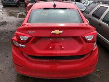 Bright Red 2017 Chevy Cruze Trunk Lid with Backup Camera and Lights