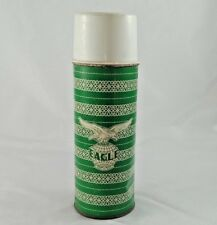 Vintage Old Eagle Brand Green Color Tin Hot Thermos / Flask Litho Print  India