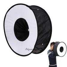 Foldable SpeedLite Softbox Ring Flash Diffuser Round Light Speedlight for Camera