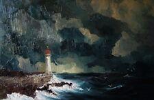 """  Lighthouse ... "",  90cm x 60cm, Justyna Kopania"