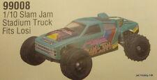 Vintage (Parma PSE 99008) 1/10 Slam Jam Stadium Truck Clear Body for Losi