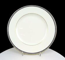 """WEDGWOOD ENGLAND ULANDER BLACK GOLD TRIM 10 3/4"""" DINNER PLATE 1965-2001"""