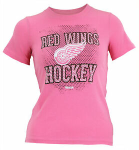 Reebok NHL Youth Girl's Detroit Red Wings Short Sleeve Graphic Tee
