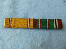 WWII Air Corps Ribbon Bar Custom Sewn Europe & Pearl Harbor British Made WW2