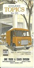 GMC 1965 Truck & Coach Division Sales Brochure Mailer