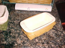 Longaberger retired Cs Small Loaf Basket Set W Usa dish