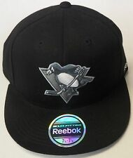 NHL Pittsburgh Penguins Reebok 210 Fitted Black Cap Hat NEW!