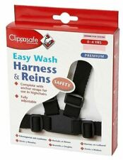 Clippasafe Easy Wash Harness and Reins (black) Pr1711403r008
