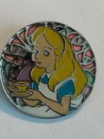 TDR Tokyo Alice Stained Glass Circle Alice In Wonderland Disney Pin (B6)