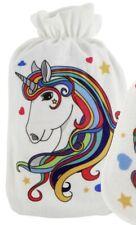 Wärmflasche Einhorn Kopf 2 l Wärmeflasche Wärmekissen Gummi Stoffbezug Unicorn