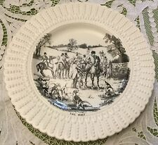 Fox Hunt Hunting Royal Cauldon Plate Black and White The Meet