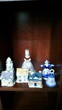 Dutch type collectible bells lot of 7 of Girls,windmills and little house Bells
