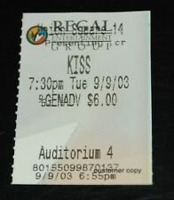 KISS Band Alive 4 Aussie Symphony Concert 2003 1-Night Movie Theater Ticket Stub