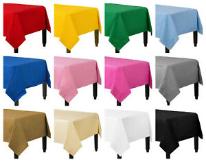 Disposable Paper Table Covers / Table Cloths 13 Colors Available Birthday Party