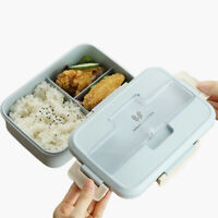 Microwave Bento Lunch Box + Spoon Utensils Picnic Food Container Storage Box New