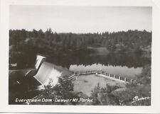 CO * Evergreen Dam – Denver Mt. Parks * Small Real Photo  Sanborn 1940's